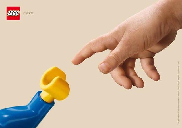 Stworzenie Adama - Lego