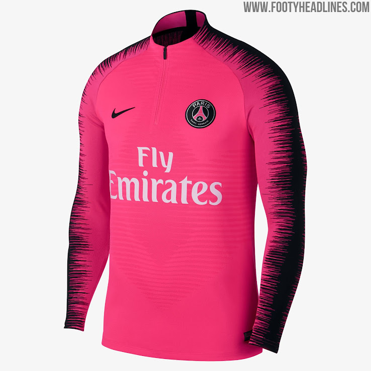 brand new f131a b3841 New Nike Style: Pink PSG 2019 Training Kit Released - Footy ...