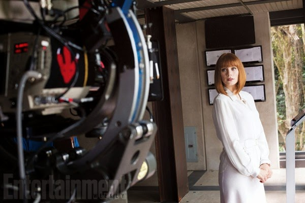 "Bryce Dallas Howard en el rodaje de ""Jurassic World"""