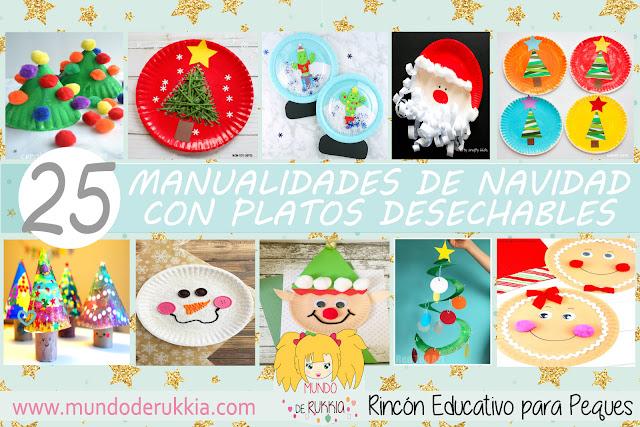 Manualidades Navidad con Platos Desechables