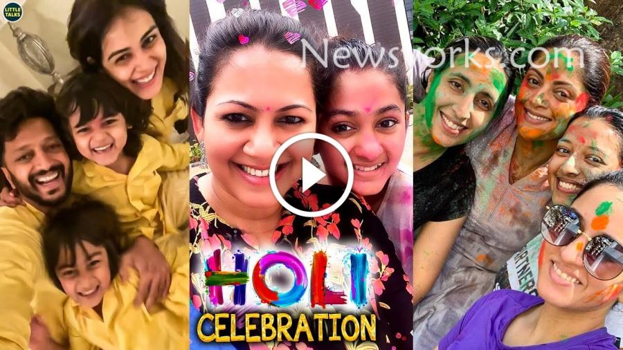 மகள் சாராவுடன் Holi-யை கொண்டாடிய பிக்பாஸ் அர்ச்சனா !!!