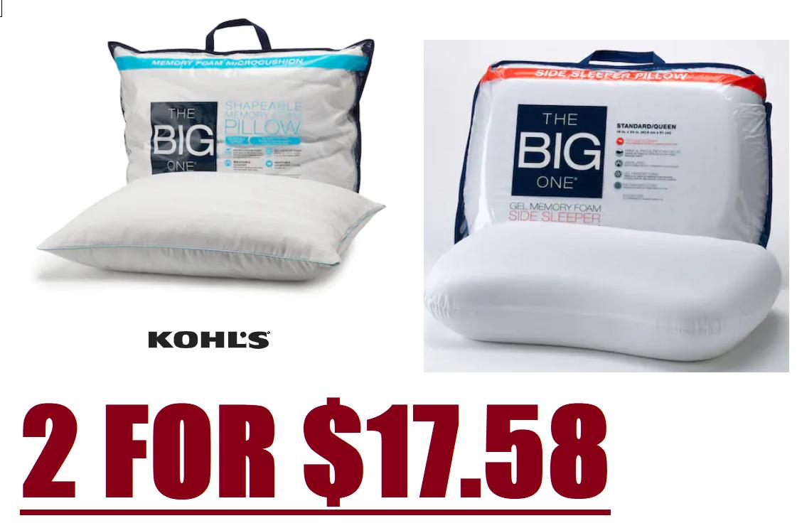 gel memory foam side sleeper pillows