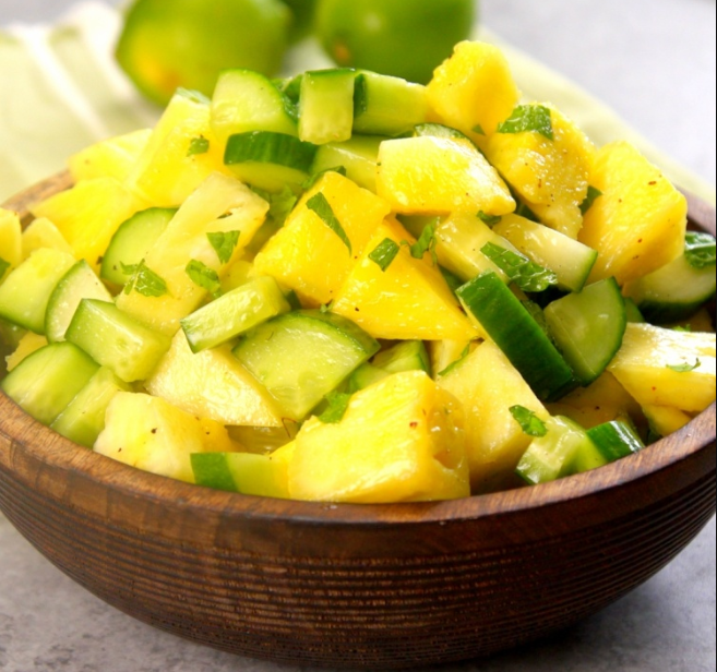 Pineapple Cucumber Salad #vegan #salad