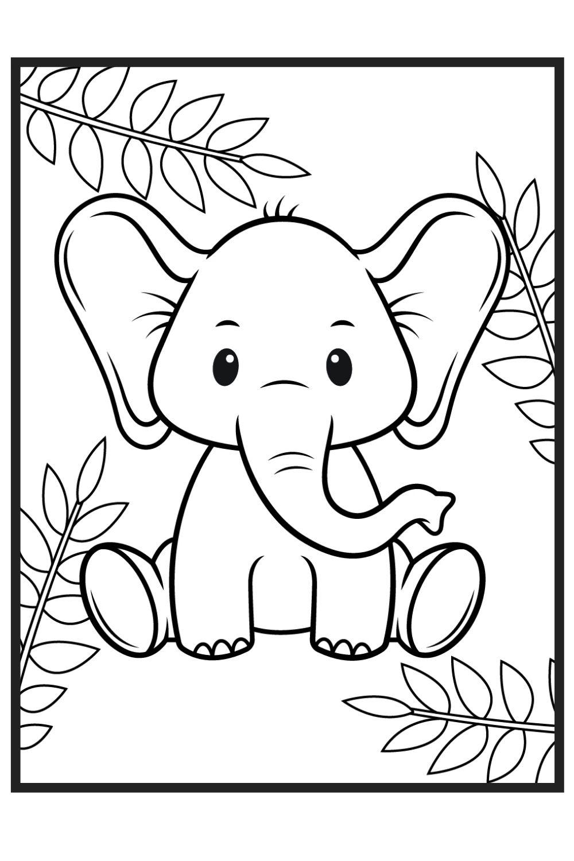 Download Wallpaper Coloriage bébé éléphant