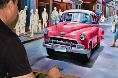 Oswaldo Ayala pintor pintando