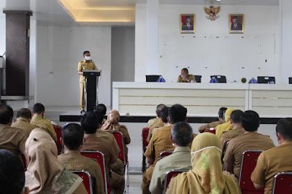 Awal kerja Tahun 2021, Bupati Breafing bersama Pejabat Lingkup Pemkab. Takalar