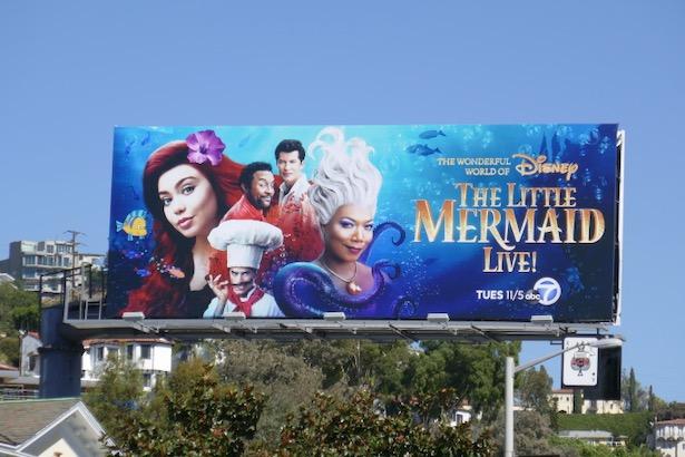 Disney Little Mermaid Live billboard