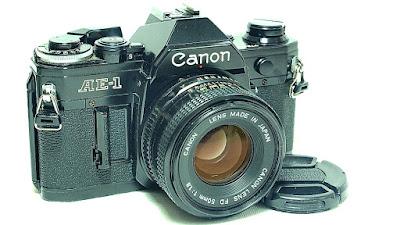 Canon AE-1 (Black) Body #421, Canon nFD 50mm 1:1.8 #824