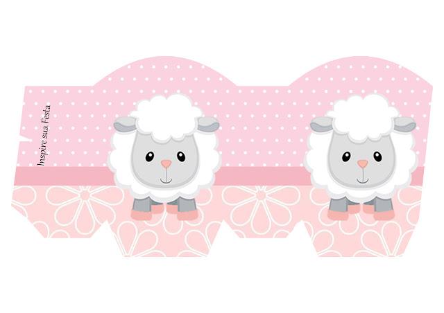 Cajas de Ovejita Bebé en Rosa para imprimir gratis.