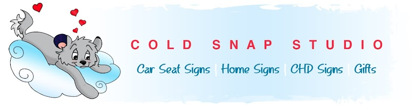 Car Seat Signs by Cold Snap Studio