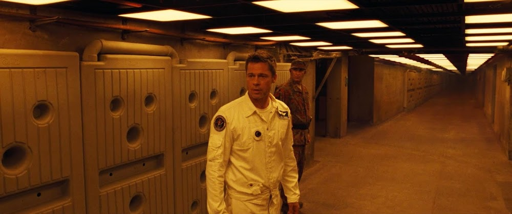 Brad Pitt in Martian tunnels - image from Ad Astra movie