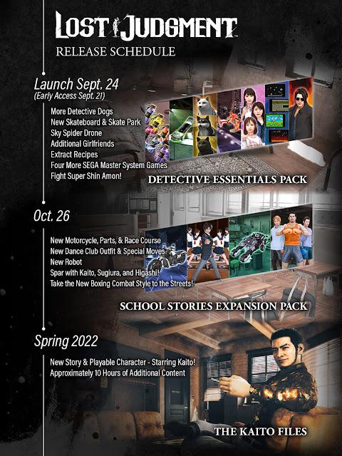 lost judgment pre-order bonus digital deluxe ultimate edition post-launch content roadmap pc steam detective action-adventure thriller game ryu ga gotoku studio sega