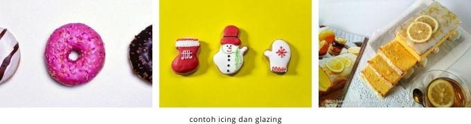 contoh icing dan glazing pada kue