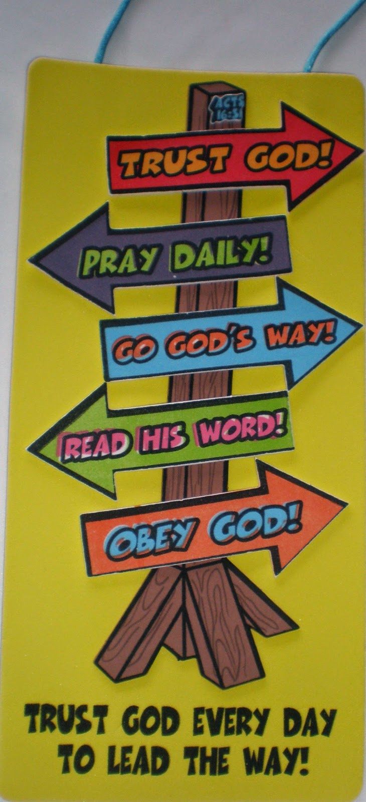 I Trust God Sign Craft Kit on outside bulletin boards