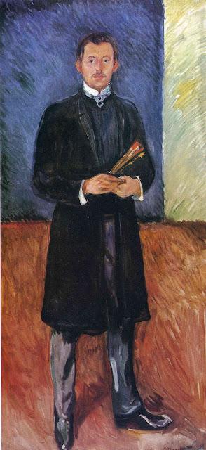 Эдвард Мунк - Автопортрет с кистями. 1904