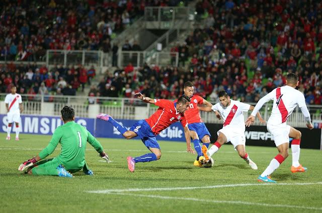 Chile y Perú en partido amistoso, 10 de octubre de 2014