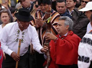 Lenín Moreno, Ecuador, Chamanes