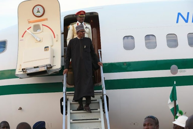 Nigerian President Buhari Arrives Makkah For Lesser Hajj (Photos)