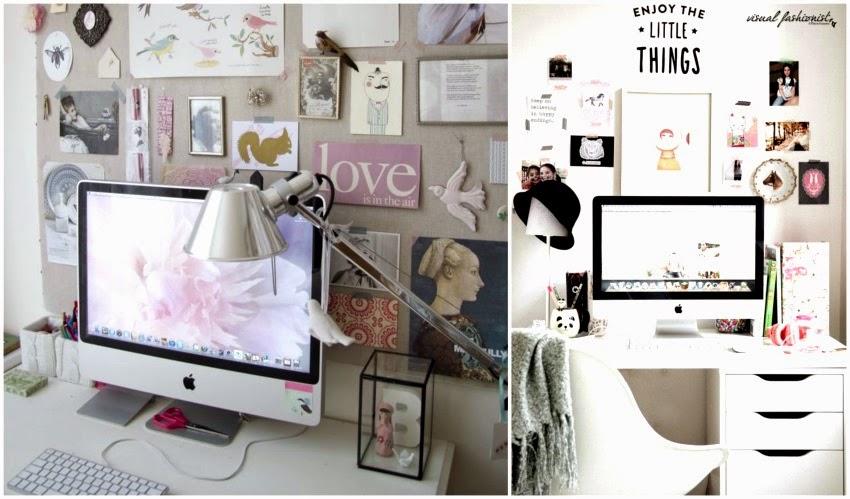 Visual fashionist arredare un piccolo studio in casa for Scrivania low cost