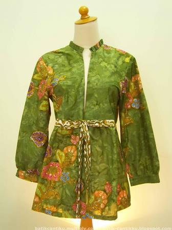 Contoh Baju Bolero Batik Lengan Panjang