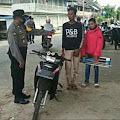 Kapolsek Bontomatene Pimpin Operasi Yustisi Protokol Kesehatan Di Pasar Batangmata