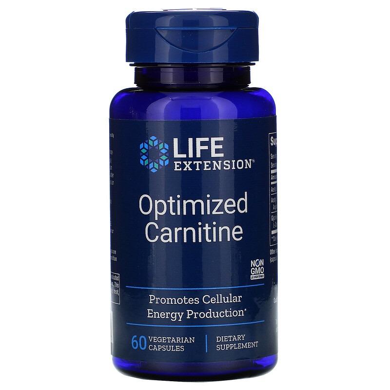 Life Extension, Оптимизированный карнитин, 60 вегетарианских капсул