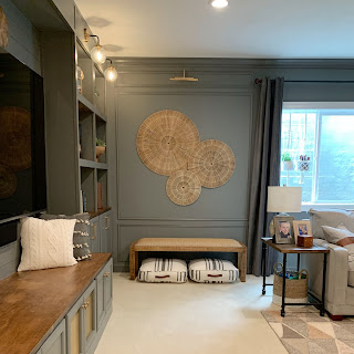 Creating a beautiful modern accent wall!