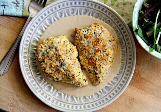 Panko Crusted Mustard-Glazed Chicken Breasts