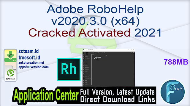 Adobe RoboHelp v2020.3.0 (x64) Cracked Activated 2021