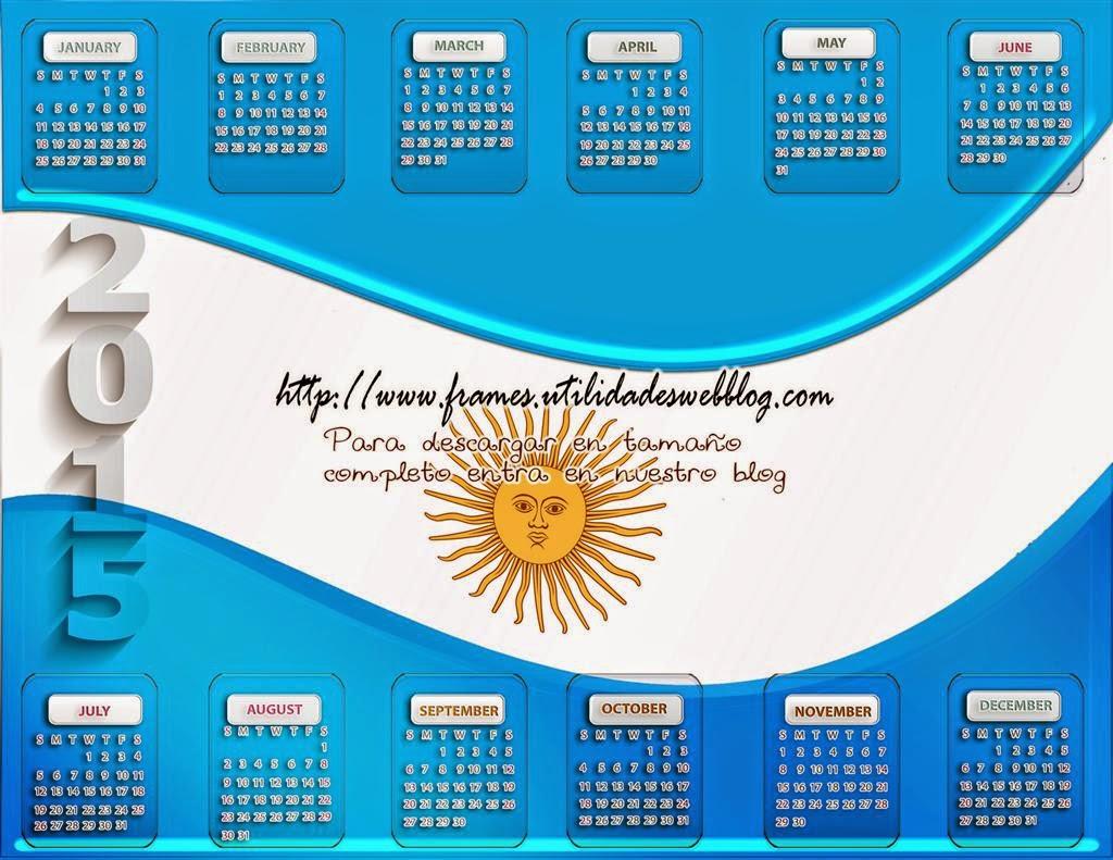 calendario de argentina para el a u00f1o 2015