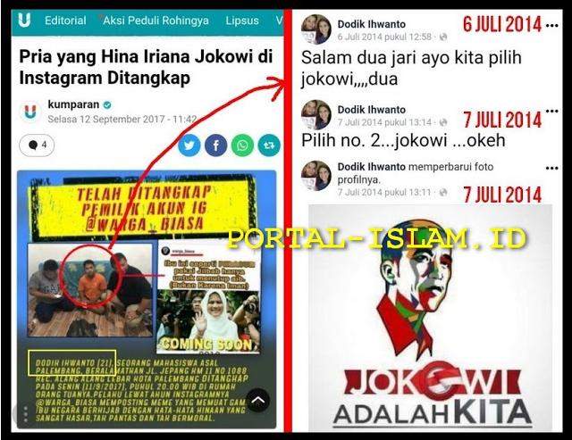 TERBONGKAR! Penghina Istri Jokowi Yang Ditangkap TERNYATA Seorang Pendukung Jokowi
