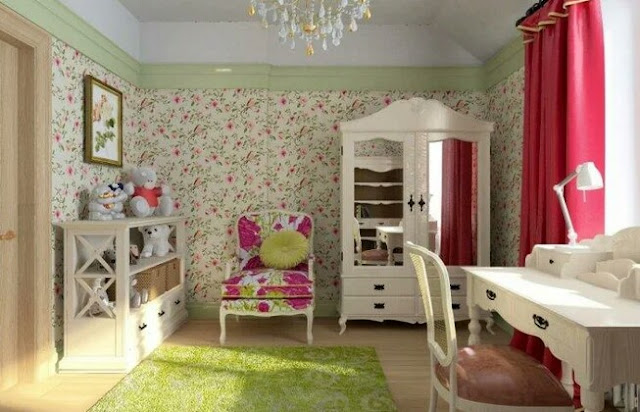 Provence style curtains for a children's room