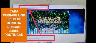 alamat URL blog tidak sesuai