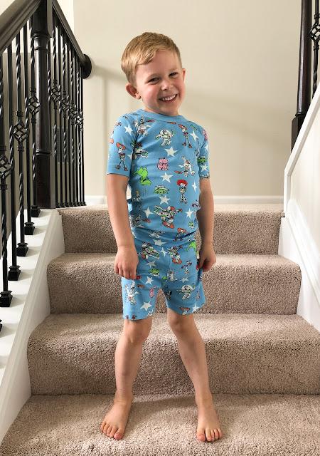 Review of Hanna Andersson matching family pajama sets kids short john