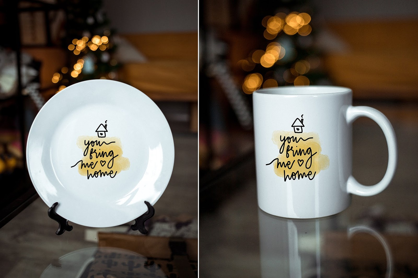 Sublimation Mug and Plate Mockups