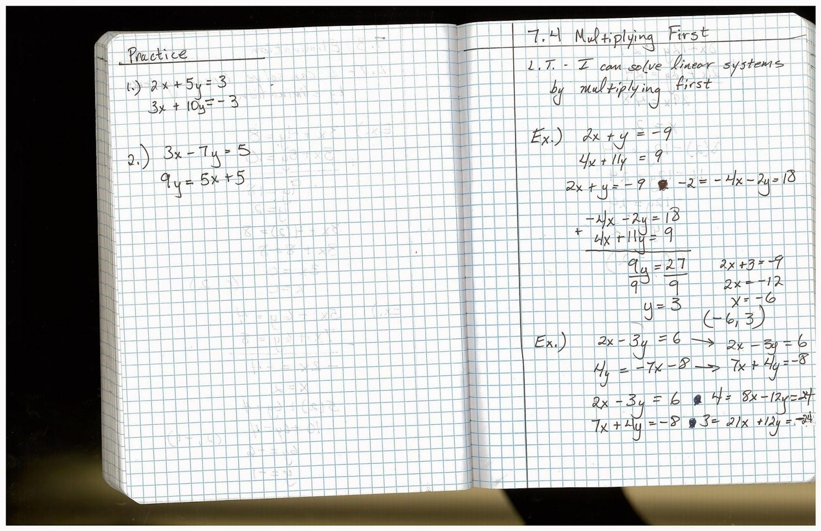 Heidemann 8th Grade Math February