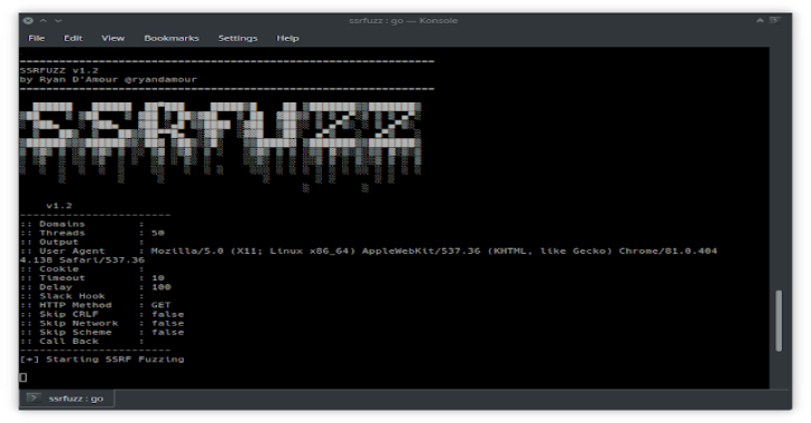 SSRFuzz : A Tool To Find Server Side Request Forgery Vulnerabilities, With CRLF Chaining Capabilities