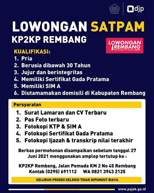 Lowongan Kerja Satpam KP2KP Rembang