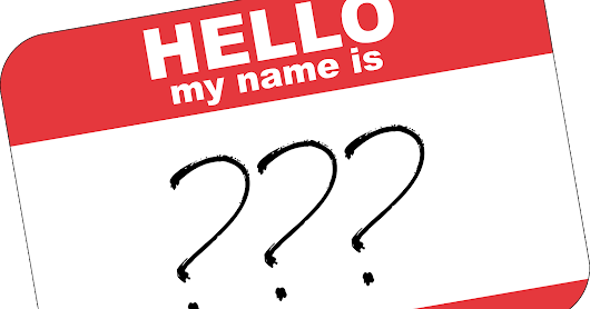 Everything I Know About Writing #5: Make your characters' names work for you.