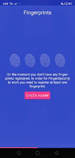 Finger Security applock