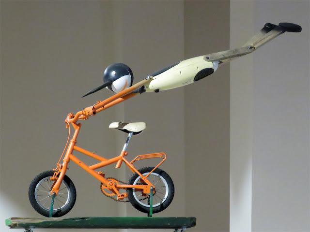 Pinocchio's bike, Public Library, Via dei Bottini dell'Olio, Livorno