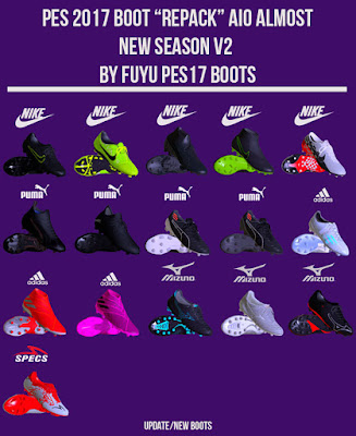 """PES 2017 Boot Repack AIO """"ALMOST"""" V2 Season 2019/2020 by FuyuPES17 Boots"""