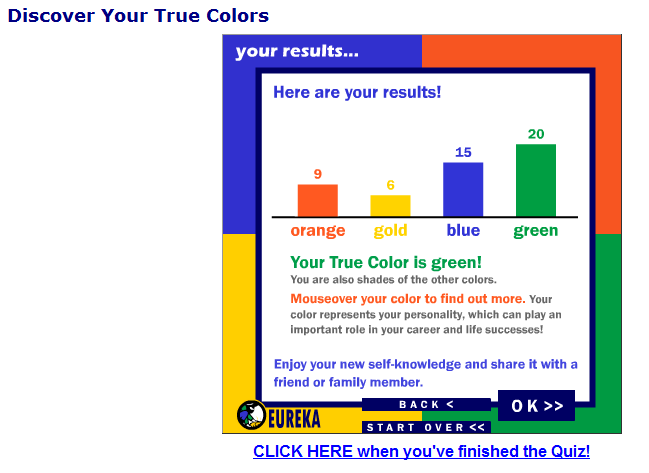 What Color is Your Personality? - Quia