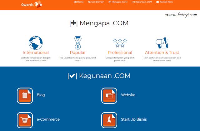 Beli Domain Murah Gratis Hosting di Qwords.com