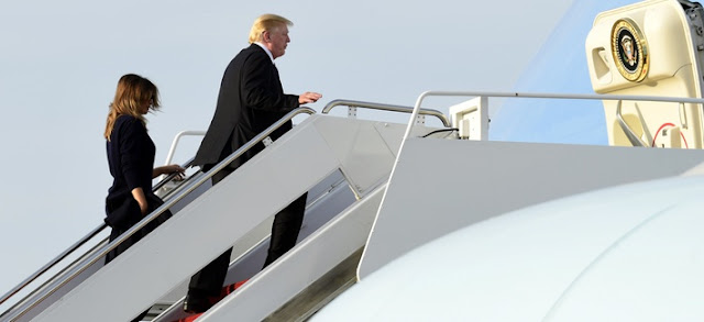 Trump entering the Air Force One