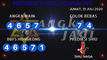Prediksi Togel Angka Jitu Hongkong HK Jumat 31 Juli 2020
