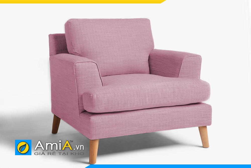 sofa phòng ngủ đẹp dạng ghế đơn, bọc nỉ màu tím hồng trẻ trung, nệm mút siêu êm ái