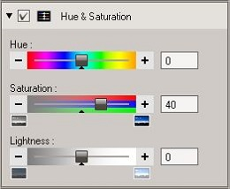 OV3 Hue & Saturation tool
