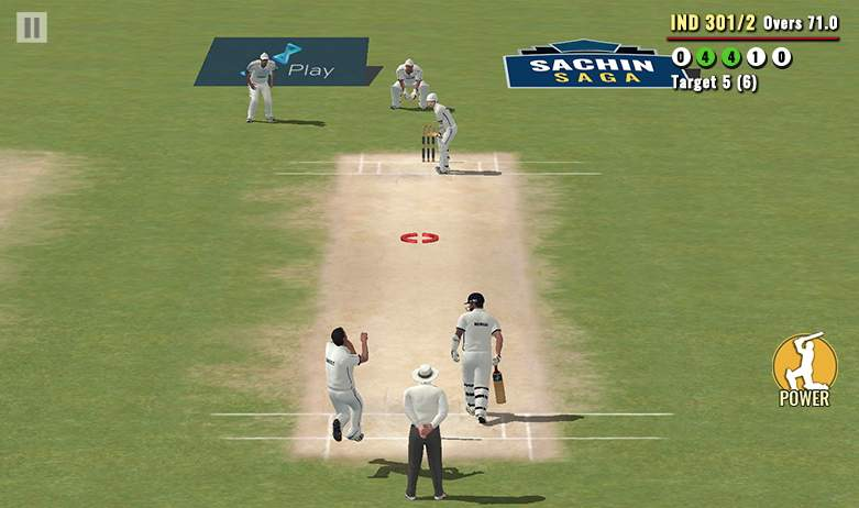 Sachin Cricket Game Screenshot
