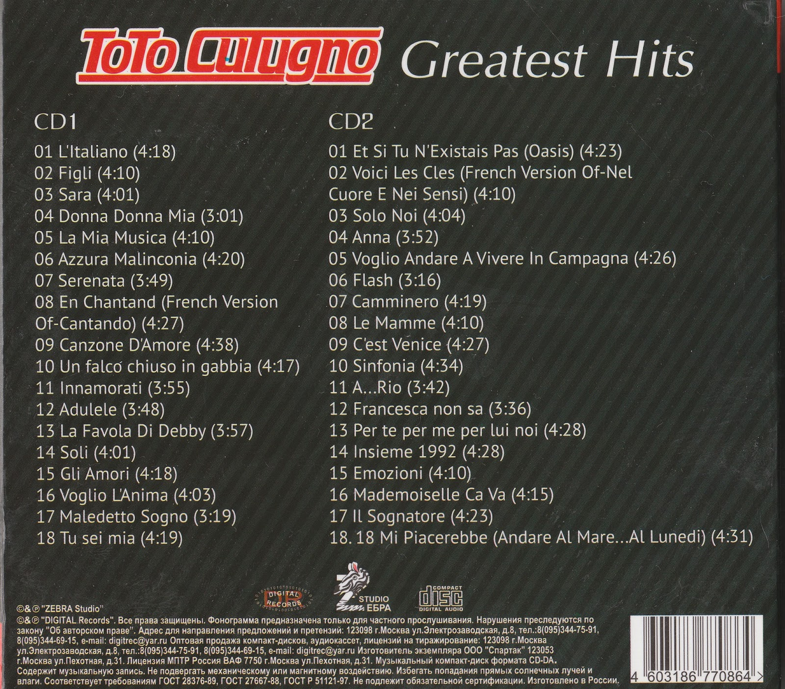 MIJAS: TOTO CUTUGNO - Greatest Hits
